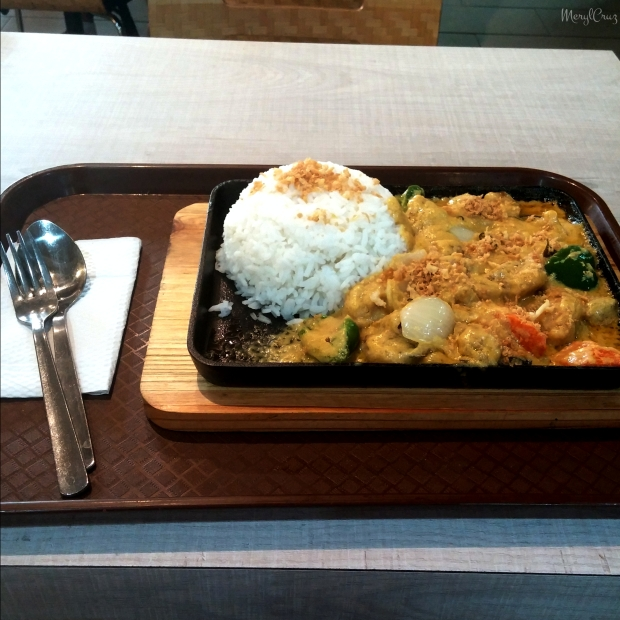 salted egg chicken with rice for lunch!