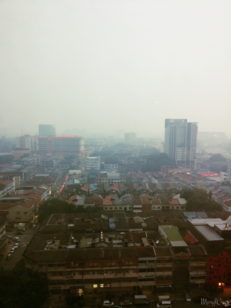 HAZE :( from our hotel window