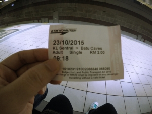ticket to Batu Caves via KTM Komuter
