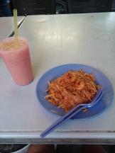 Kuay Teow with Iced Teh Tarik