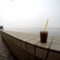 Iced Milo before the rain came :)