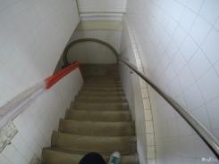 steep stairs inside the Pagoda