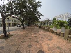 walking towards Bank Negara