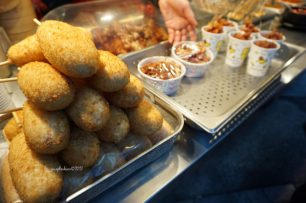 corndogs and chicken poppers near Haeundae beach!