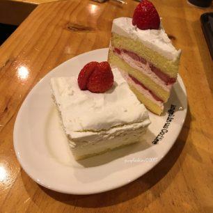 Strawberry shortcake at Angel-in-us coffee shop in Hongdae Seoul